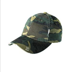District distressed cap, military Camo